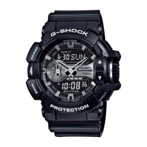 Casio G-Shock Black and Silver-Tone Dial